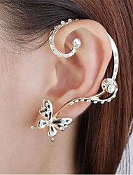 Stud Earrings Ear Cuffs Alloy Simulated Diamond Golden Jewelry Party Daily 1pc