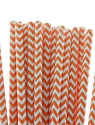 Недорогие -экологически чистые прекрасные бумажные соломы из шевронной бумаги 18 цветов для соломинок для Хэллоуина (25 шт)