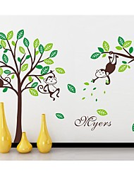 stickers muraux stickers muraux, Monkey Tree kidsroom pvc stickers muraux