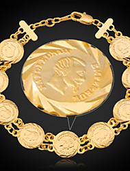 baratos -u7® france pulseiras moeda napoleon ouro verdadeiro 18k banhado mulheres cadeia ligação pulseira jóias