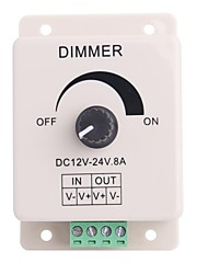 cheap -8A 1-Channel Led Knob-Operated Control Dimmer for LED Strip Lamp  (DC 12V-24V)