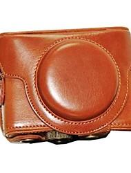 economico -dengpin® copertura della cassa borsa fotografica in pelle protettiva con tracolla per Sony DSC-RX100 rx100m iii ii RX100