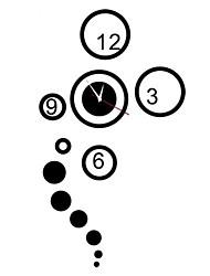 Relógio 3d diy moderno estilo anel de acrílico espelho da parede