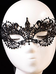cheap -Carnival Mask Men's Women's Halloween Festival / Holiday Halloween Costumes Black Solid Colored Lace