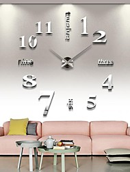 cheap -Modern DIY Analog 3D Mirror Surface Large Number Wall Clock Sticker Home Decor