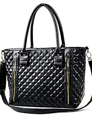 Women Bags All Seasons PU Shoulder Bag Tote with for Shopping Casual Formal Office & Career Black