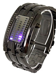 cheap -Men's LED Three Rows of Lights Steel Band Lava Table Wrist Watch(Assorted Colors) Cool Watch Unique Watch