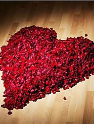 abordables -144pcs 10 clor rosa flor de seda de la boda pétalos de flores artificiales