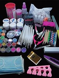 abordables -167pcs art pro des ongles pointe de l'outil de gel poudre acrylique UV brosse tondeuse ensemble