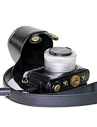 preiswerte -dengpin® Kamera Ledertasche Tasche Abdeckung mit Schultergurt für Panasonic Lumix DMC-gm1 mit 12-32mm Objektiv