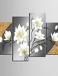 cheap -Stretched Canvas Art Beautiful Flowers Decorative Set of 4