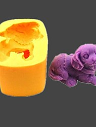 cheap -Dog Animal Fondant Cake Chocolate Resin Clay Candy Silicone Mold,L5.5cm*W4cm*H3.6cm