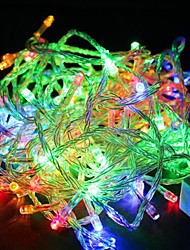 cheap -Waterproof 10M 100-LED RGB Light LED Light Decoration String Light (110V)