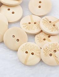 motif arbre album scraft coudre des boutons en bois de bricolage (10 pièces)