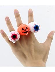 Soft Eyes Flashing Rings  Halloween Props(Set of 5)
