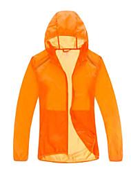 Men's Women's Unisex Hiking Jacket Waterproof Quick Dry Windproof Ultraviolet Resistant Breathable YKK Zipper Transparent Single Slider