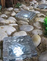 economico -solare percorso cubetto di ghiaccio di mattoni di cristallo lampada da giardino luce