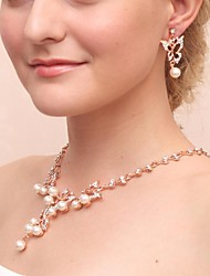 cheap -Women's Cubic Zirconia Imitation Pearl Jewelry Set Include Earrings Necklaces - Imitation Pearl Cubic Zirconia Alloy For Wedding Party