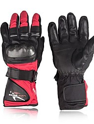 preiswerte -Vollfinger Leder Leder Nylon Motorräder Handschuhe