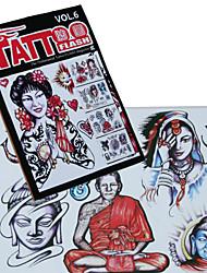abordables -portrait humain motif de tatouage livre