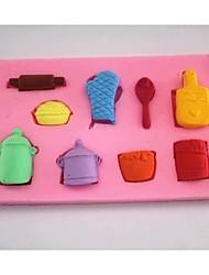 Недорогие -перчатки горшок ложка помадка торт шоколадный силиконовые формы торт украшение инструменты, l6.9cm * w6.9cm * h1cm