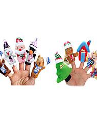 abordables -Marionetas de dedo Novedades Textil Chica Regalo 10pcs
