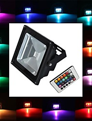 cheap -900 lm LED Floodlight 1 leds High Power LED Remote-Controlled RGB AC 85-265V