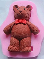 cheap -Bear Fondant Cake Chocolate Silicone Mold Cake Decoration Tools,L8.3cm*W6.6cm*H1.7cm