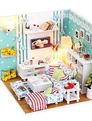 cheap -Cute DIY Wooden Handmade Dream Dollhouse Furniture Miniature Living Room Puzzle Toys