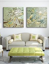 Недорогие -натяжные холсте женщины тратят абстрактный Декоративная роспись набор 2
