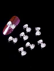 Недорогие -5шт 3d белый галстук-бабочка сплава стразами ногтей ювелирные изделия