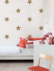 abordables -oro jiubai® estrella pared pared calcomanía etiqueta, 15cm / corazón, 16stars / set