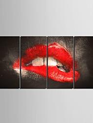 allungato su tela tentazione labbra decorativa set pittura di 4