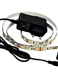 cheap -JIAWEN® 1M 5W 60x5050SMD 3000-3200K Warm White LED Flexible Strip Light + 1A Power (AC 110-240V)