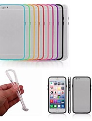 cheap -PC + TPU 2 in 1 Combo Bumper Frame Case with Metal Buttons for iPhone 6 (Assorted Colors)