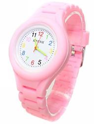baratos -Relógio Casual Relógio de Moda Quartzo Preta / Branco / Azul Relógio Casual Analógico senhoras Doce - Verde Azul Rosa claro Um ano Ciclo de Vida da Bateria / ETA 377A