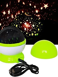 cheap -USB Starry Sky LED Projection Lamp Night Light (Random Colors)