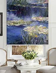 estilo abstrato pintura a óleo rio que flui rolo sombra