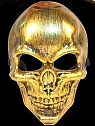 guerriero scheletro di 3 materiale plastico partito del vestito operato di Halloween maschera (colore casuale)