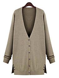 preiswerte -Gediao Frauen europäischen Stil über Größe Strick-Pullover