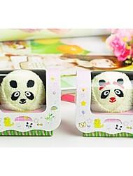 Birthday Gift Panda Shape Fiber Creative Towel (Random Color)