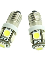 cheap -E10 2pcs 1W 5X5050SMD 70-90LM 6500-7500K Warm White Light for Car Door lamp(DC12-16V)