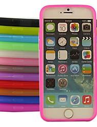 abordables -Pour Coque iPhone 6 Coques iPhone 6 Plus Autre Coque Coque Arrière Coque Couleur Pleine Flexible Silicone pouriPhone 6s Plus/6 Plus
