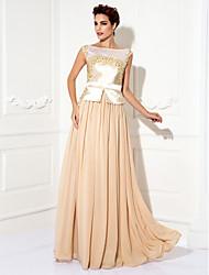 preiswerte -Mantel / Spalte Bateau Hals Boden Länge Chiffon Prom Kleid von ts couture ®