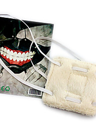 Mask Inspired by Tokyo Ghoul Cosplay Anime Cosplay Accessories Mask White Polar Fleece Male