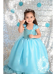 abordables -Girl's Pure color sequins princess dress JA