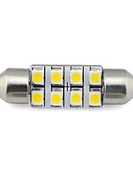 cheap -36MM 8x3528 SMD 1.3W 60LM Car Auto Festoon Light for Reading License Plate Lamp White Warm White DC 12V (2 pieces)