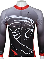 ILPALADINO Cycling Jersey Men's Long Sleeves Bike Jersey Top Quick Dry Ultraviolet Resistant Breathable 100% Polyester Cartoon Animal