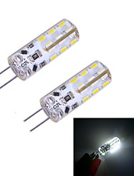 2pcs 100~120 lm G4 Luminárias de LED  Duplo-Pin 24 leds SMD 3014 Branco Frio DC 12V