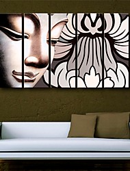 trasferimenti su tela di arte buddha set pittura decorativa di 5